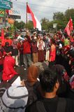 Anti-corruption demonstration in indonesia Royalty Free Stock Photography