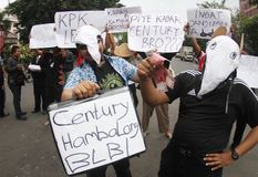 Anti-corruption demonstration in indonesia Stock Photography