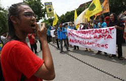 Anti-corruption demonstration Stock Photo