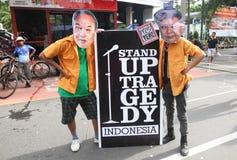 Anti-corruption demonstration Royalty Free Stock Photos