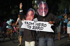 Anti-corruption demonstration Royalty Free Stock Image