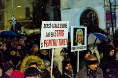 Anti-corruption protest in Bucharest. Masive Anti-corruption protest in Bucharest, Roumania. Event from 20 february 2018 Stock Images