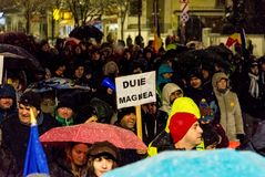 Anti-corruption protest in Bucharest. Masive Anti-corruption protest in Bucharest, Roumania. Event from 20 february 2018 Stock Photography