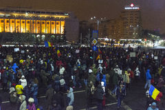 Anti corruption protests in Bucharest Stock Photography