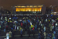Anti corruption protests in Bucharest Stock Image