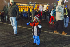 Anti corruption protests in Bucharest Stock Images