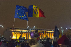 Anti corruption protests in Bucharest Royalty Free Stock Image