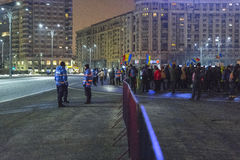Anti corruption protests in Bucharest. Thousands of people participate in the biggest anti corruption protest since 1989 on February 11, 2017 in Bucharest Royalty Free Stock Photos