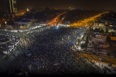 Anti corruption protests in Bucharest Royalty Free Stock Images