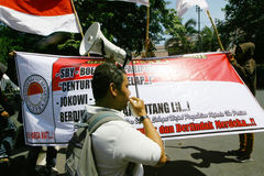 Anti corruption rally Stock Image