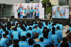 Anti-Corruption Rally in Bangkok. Students attend an anti-corruption rally organised by the United Nations Development Programme outside Bangkok Art and Culture Royalty Free Stock Photography