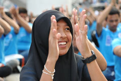 Anti-Corruption Rally in Bangkok. A Muslim Student attends an anti-corruption rally organised by the United Nations Development Programme outside Bangkok Art and Royalty Free Stock Image