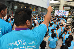 Anti-Corruption Rally in Bangkok. Students attend an anti-corruption rally organised by the United Nations Development Programme outside Bangkok Art and Culture Stock Photos