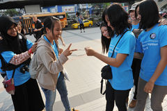 Anti-Corruption Sammlung in Bangkok stockfotografie