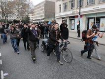 Anti-Cortan protesta en Londres Fotografía de archivo