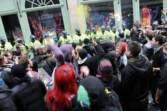 Anti-Cortan protesta en Londres Fotografía de archivo libre de regalías