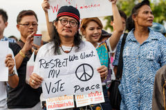 Anti Coup Protest THAILAND 25/5/2014 Royalty Free Stock Images
