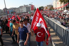 Anti-coup protest in Turkey Royalty Free Stock Images