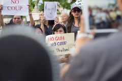 Anti coup in Thailand Royalty Free Stock Images