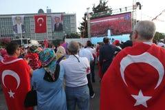 Anti-Coupprotest in der Türkei Lizenzfreie Stockfotos
