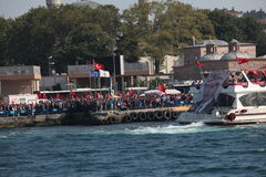 Anti-Coupprotest in der Türkei Stockfotos