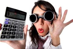 Anti crisis accountant Stock Image