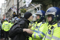 ANTI-CUTS Protest IN LONDON Stock Photography