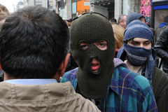 Anti-Cuts Protester in London Stock Image