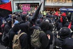 Anti-Cuts Protests in London Stock Image