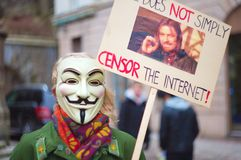 Anti démonstration d'ACTA Image stock