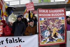 ANTI DALAI LAMA PROTEST Stock Images