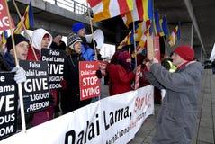ANTI DALAI LAMA PROTEST Royalty Free Stock Photography