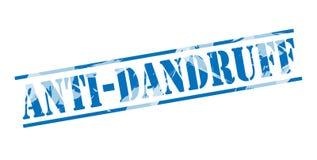 Anti dandruff blue stamp Royalty Free Stock Photography