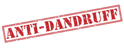 Anti dandruff red stamp Stock Images