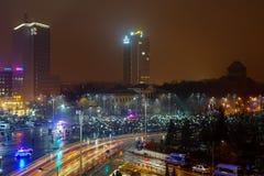 Anti de corruptieprotest van Roemenen in de 20ste dag, Boekarest, Roemenië Stock Foto