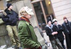 Anti demonstração da ACTA Fotografia de Stock Royalty Free