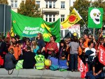 Anti demonstração da energia nuclear Fotografia de Stock
