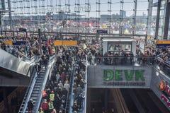 Anti demonstração de TTIP em Berlim Fotografia de Stock Royalty Free