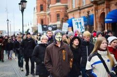 anti demonstration för acta Royaltyfria Bilder
