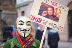 anti demonstration för acta Fotografering för Bildbyråer