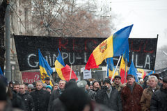 anti demonstrationsregering moldova Fotografering för Bildbyråer