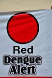 Anti dengue fever campaign poster Singapore Royalty Free Stock Images