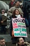 Anti dimostrazione di berlusconi Immagini Stock