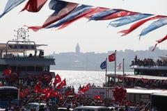 Anti--direktstöt protest i Turkiet Arkivbilder