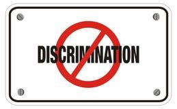 Anti-diskrimineringrektangeltecken Royaltyfri Fotografi