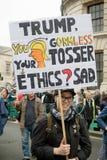 Anti-Donald Trump Protesters in zentralem London stockbild