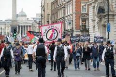 Anti-Donald Trump Protesters in zentralem London stockbilder