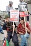 Anti-Donald Trump Protesters in zentralem London stockfoto
