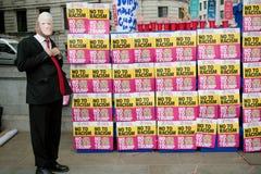 Anti-Donald Trump Protesters in zentralem London stockfotografie