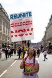 Anti Donald Trump Rally a Londra centrale immagine stock